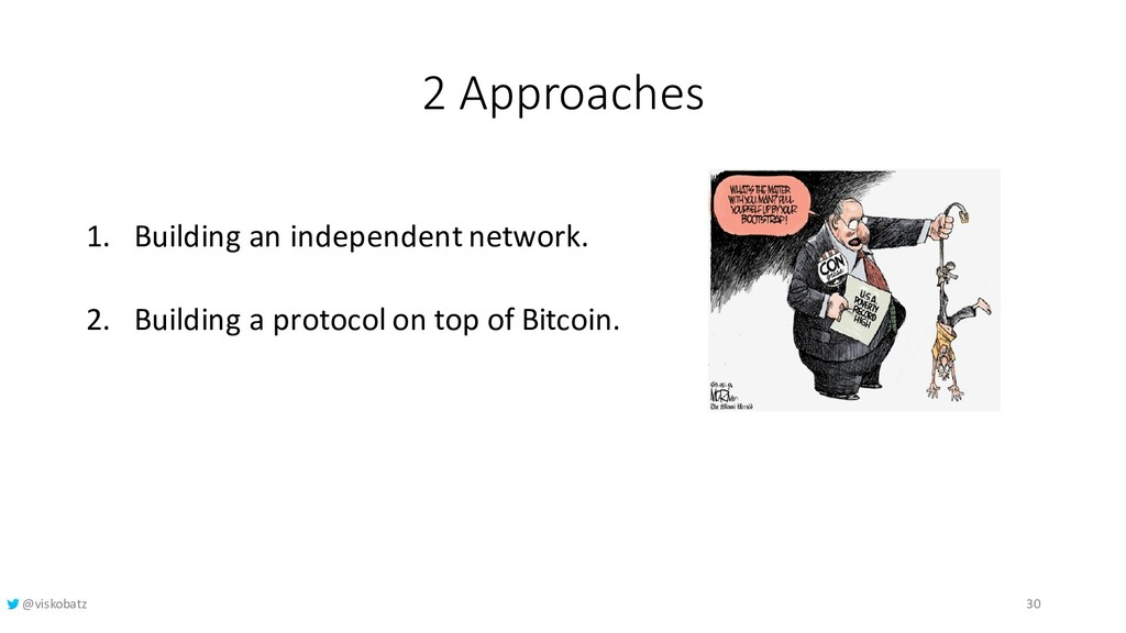 2 Approaches 1. Building an independent network...