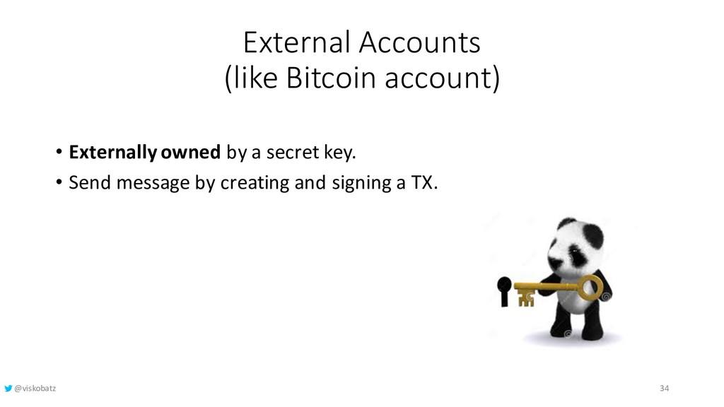 External Accounts (like Bitcoin account) • Exte...