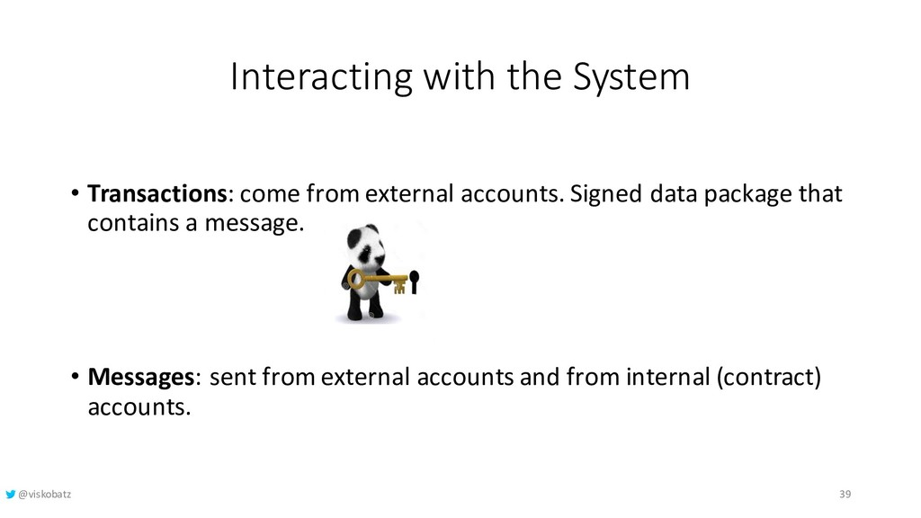 Interacting with the System • Transactions: com...