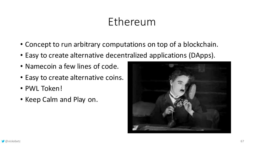 Ethereum • Concept to run arbitrary computation...