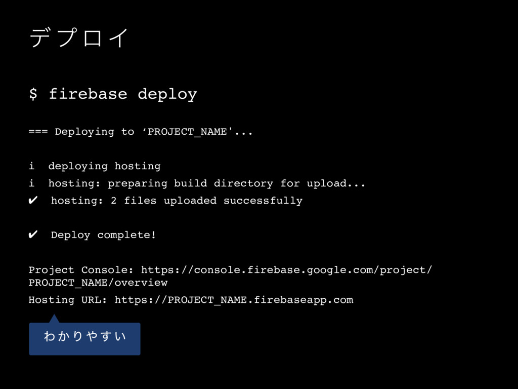 σ ϓ ϩ Π $ firebase deploy === Deploying to 'PRO...