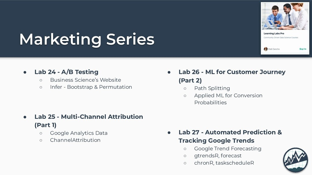Marketing Series ● Lab 24 - A/B Testing ○ Busin...