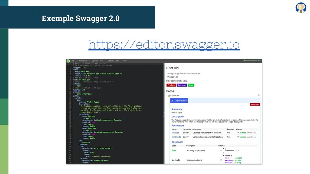 Exemple Swagger 2.0 https://editor.swagger.io