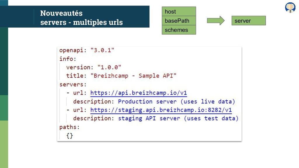 Nouveautés servers - multiples urls host basePa...