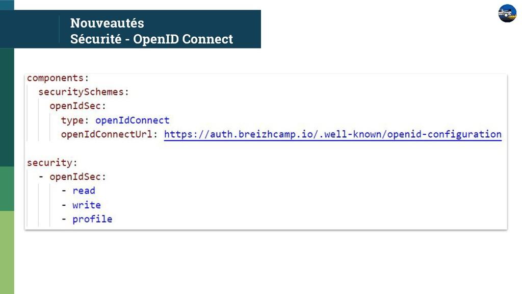 Nouveautés Sécurité - OpenID Connect