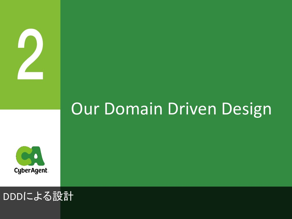 Our Domain Driven Design DDDによる設計