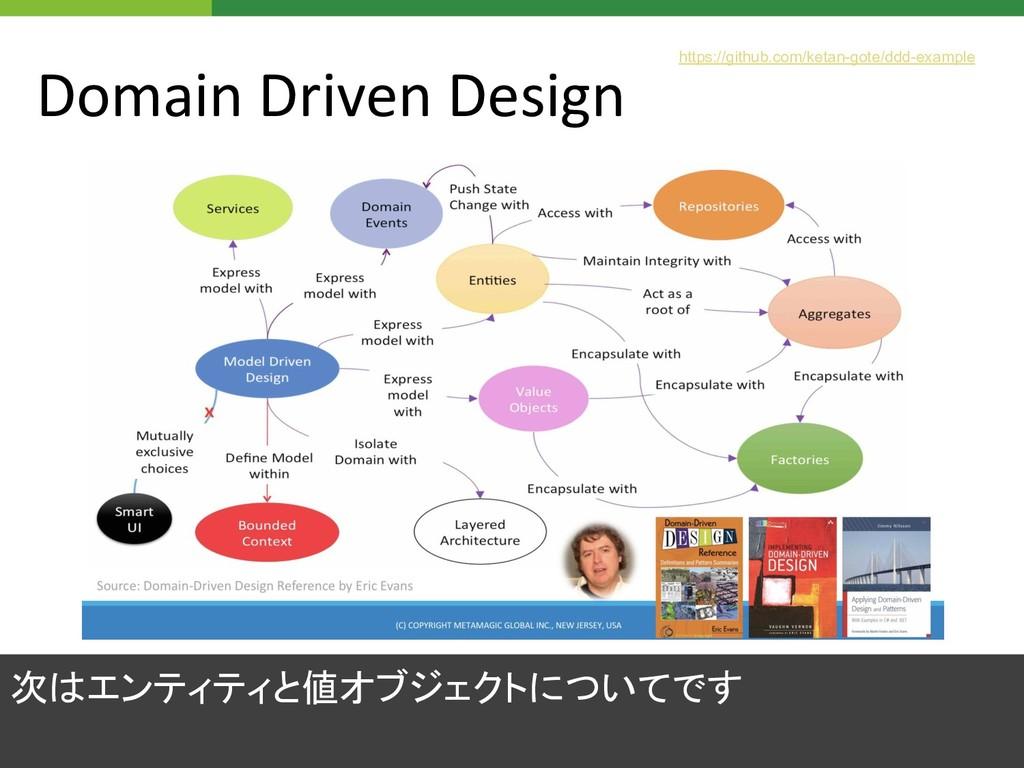Domain Driven Design 次はエンティティと値オブジェクトについてです htt...