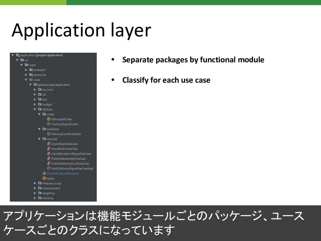 Application layer • Separate packages by functi...