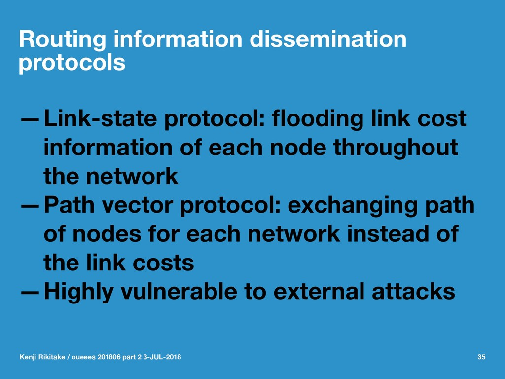 Routing information dissemination protocols —Li...