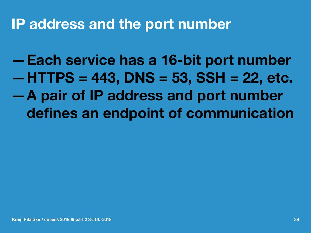 IP address and the port number —Each service ha...
