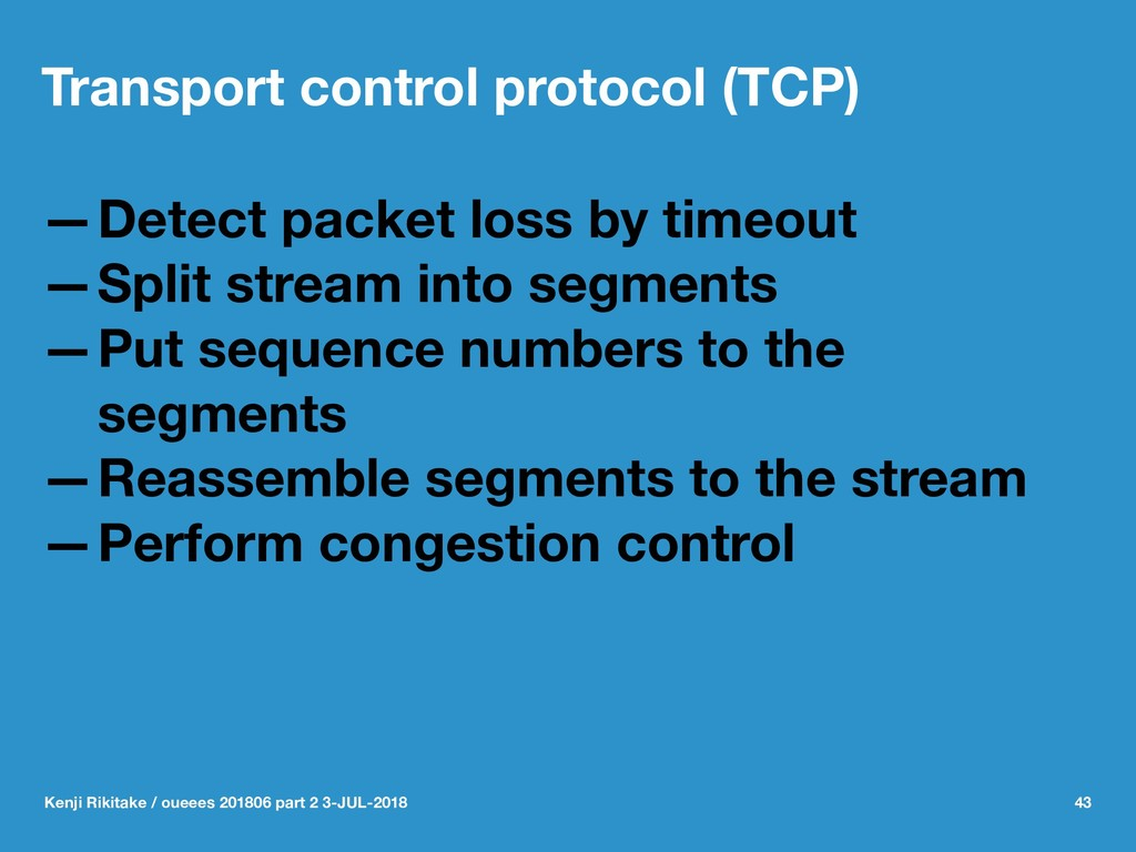 Transport control protocol (TCP) —Detect packet...