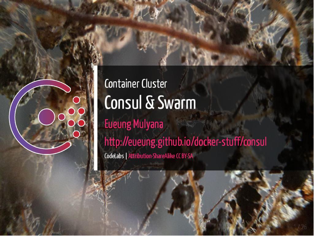 Container Cluster Consul & Swarm Eueung Mulyana...