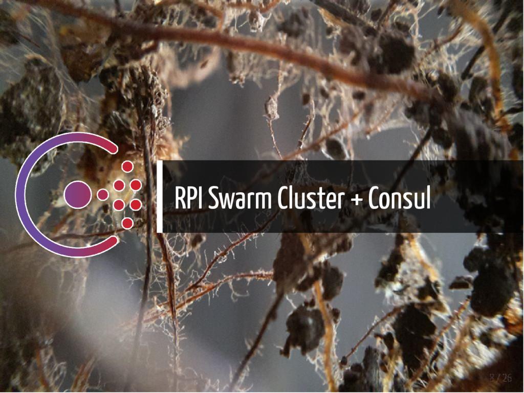 RPI Swarm Cluster + Consul 8 / 26