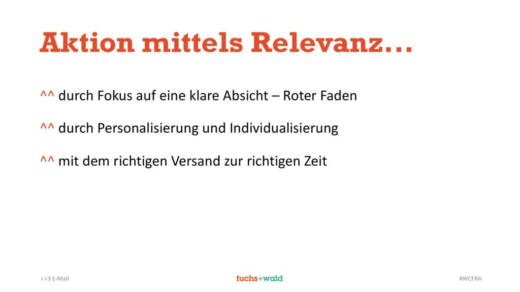 I <3 E-Mail #WCFRA Aktion mittels Relevanz... ^...
