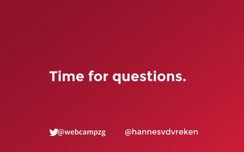 Time for questions. @hannesvdvreken @webcampzg