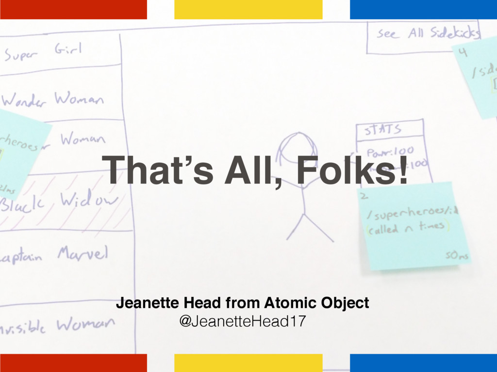 That's All, Folks! Jeanette Head from Atomic Ob...