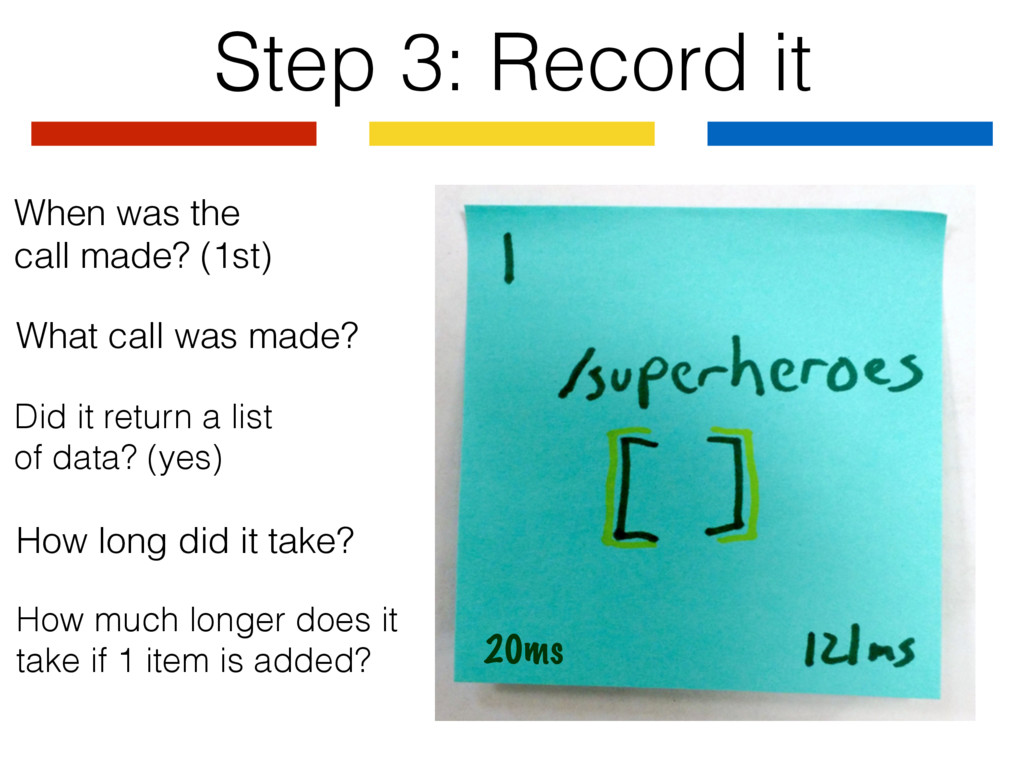 Step 3: Record it What call was made? When was ...