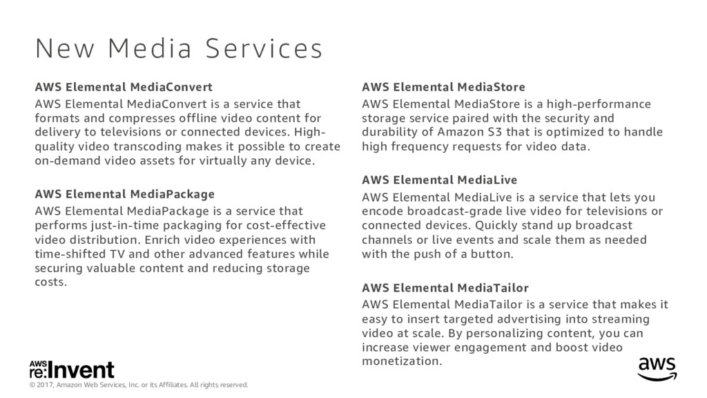 © 2017, Amazon Web Services, Inc. or its Affili...