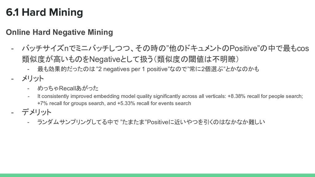 6.1 Hard Mining Online Hard Negative Mining - バ...