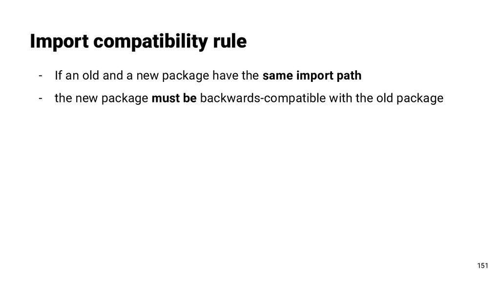 Import compatibility rule 151 - If an old and a...
