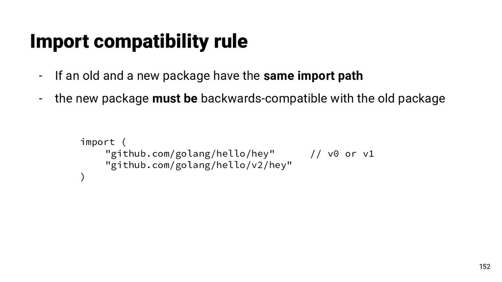 Import compatibility rule 152 - If an old and a...