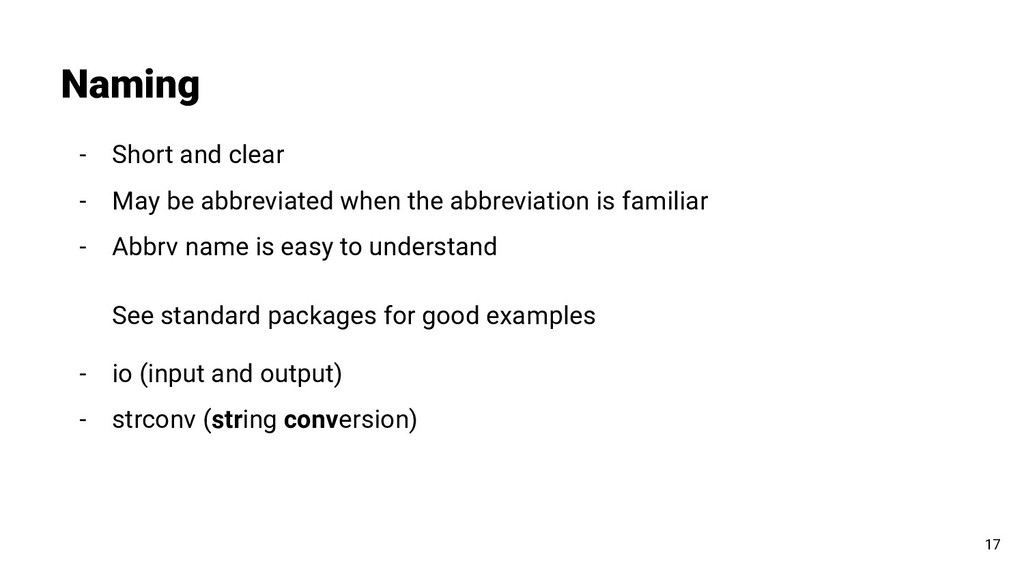 - Short and clear - May be abbreviated when the...