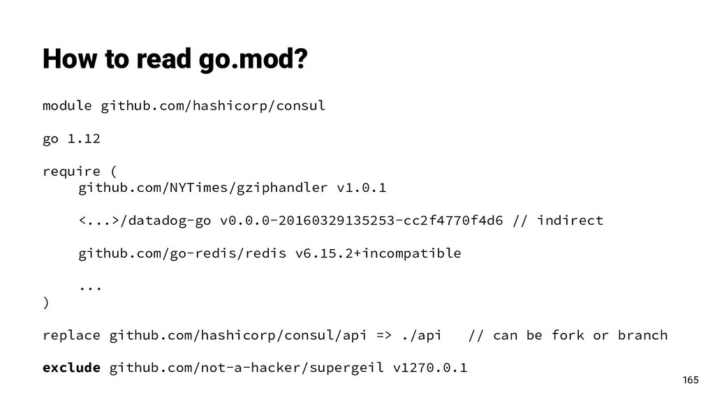 How to read go.mod? 165 module github.com/hashi...