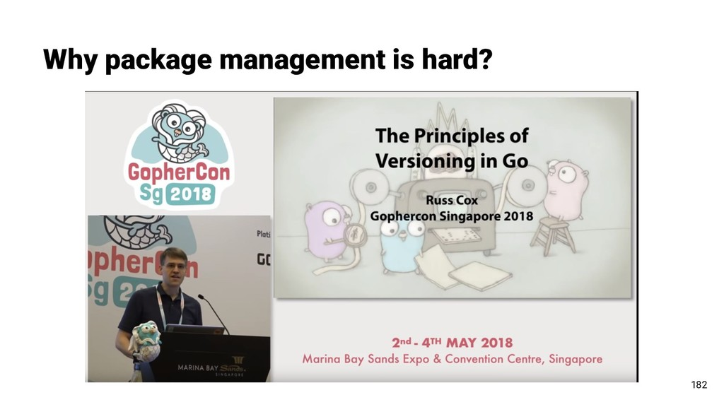 Why package management is hard? 182