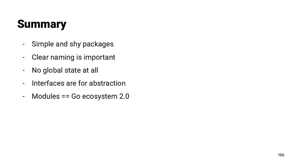Summary 196 - Simple and shy packages - Clear n...