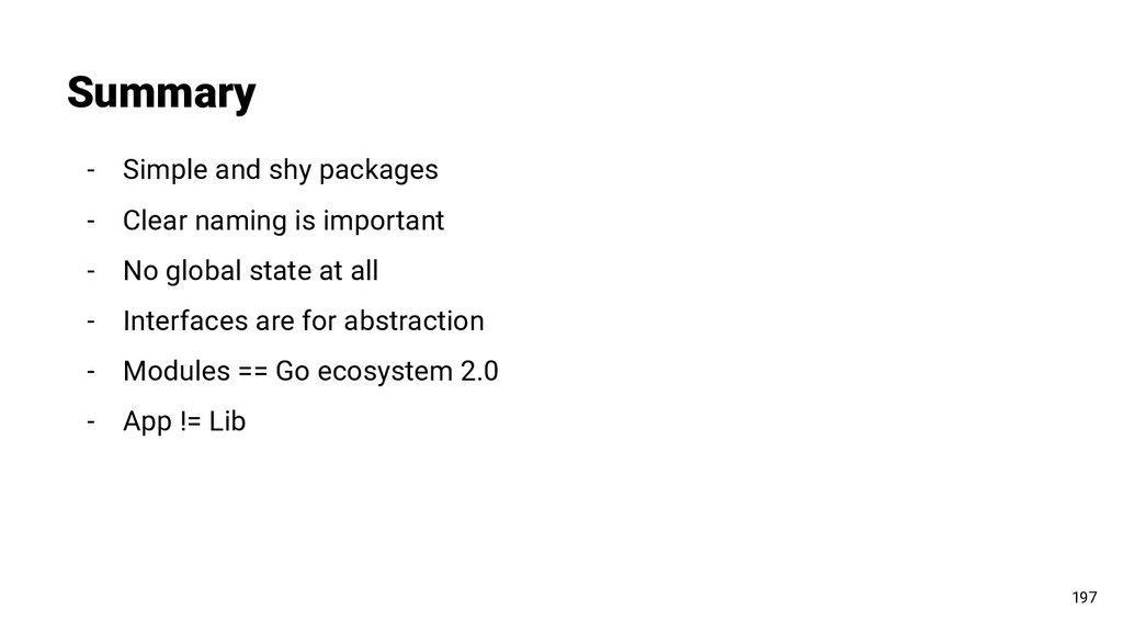 Summary 197 - Simple and shy packages - Clear n...