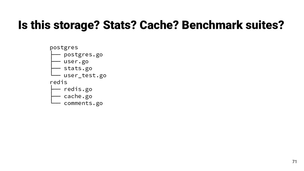 Is this storage? Stats? Cache? Benchmark suites...