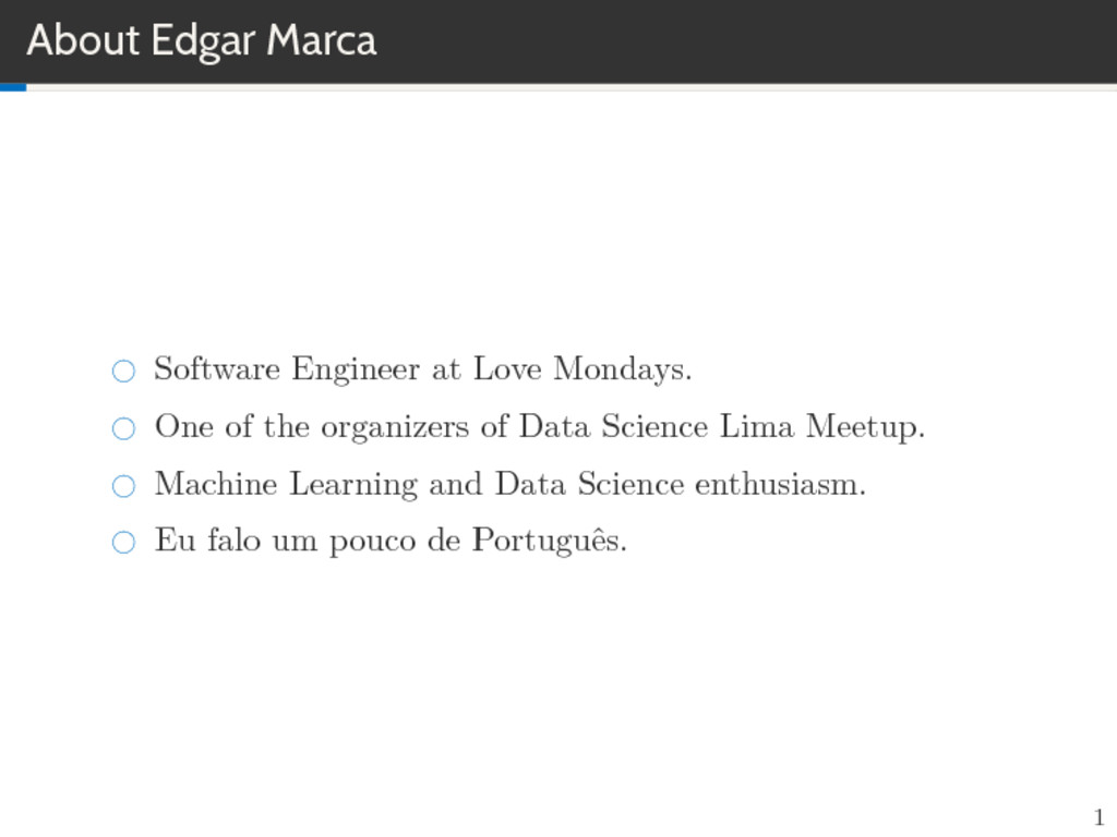 About Edgar Marca Software Engineer at Love Mon...
