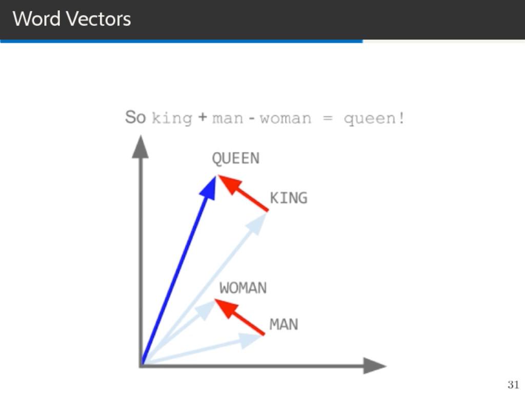 Word Vectors 31