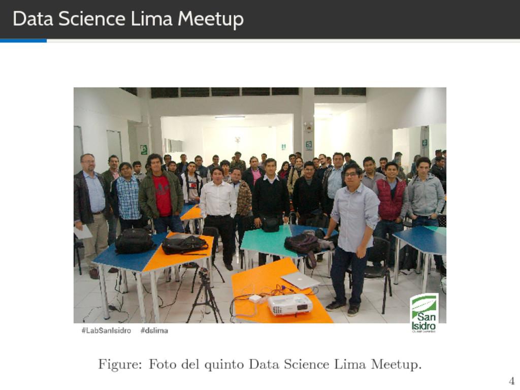 Data Science Lima Meetup Figure: Foto del quint...