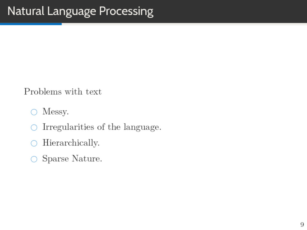 Natural Language Processing Problems with text ...