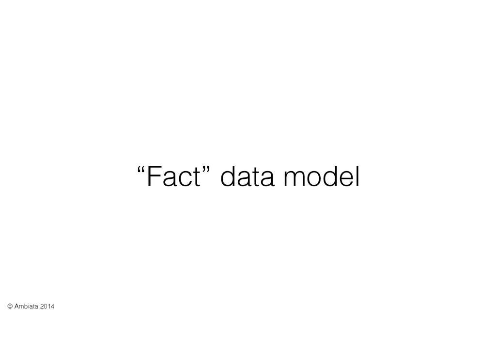"""Fact"" data model © Ambiata 2014"
