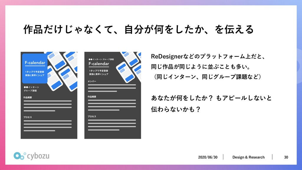 2020/06/30 30 Design & Research 2020/06/30 30 D...