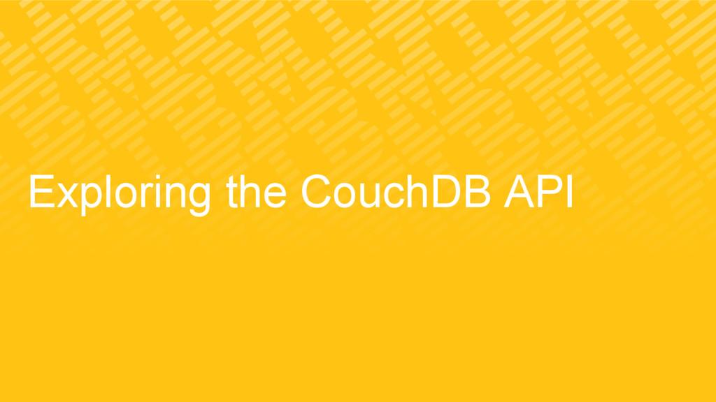 Exploring the CouchDB API