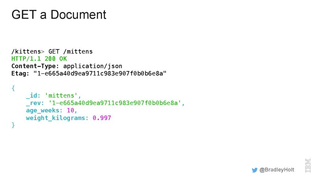 GET a Document /kittens> GET /mittens! HTTP/1.1...