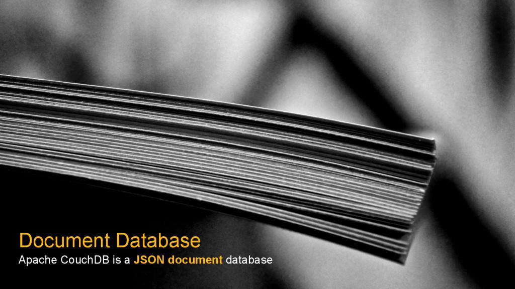 Document Database Apache CouchDB is a JSON docu...