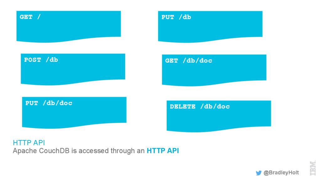 HTTP API Apache CouchDB is accessed through an ...