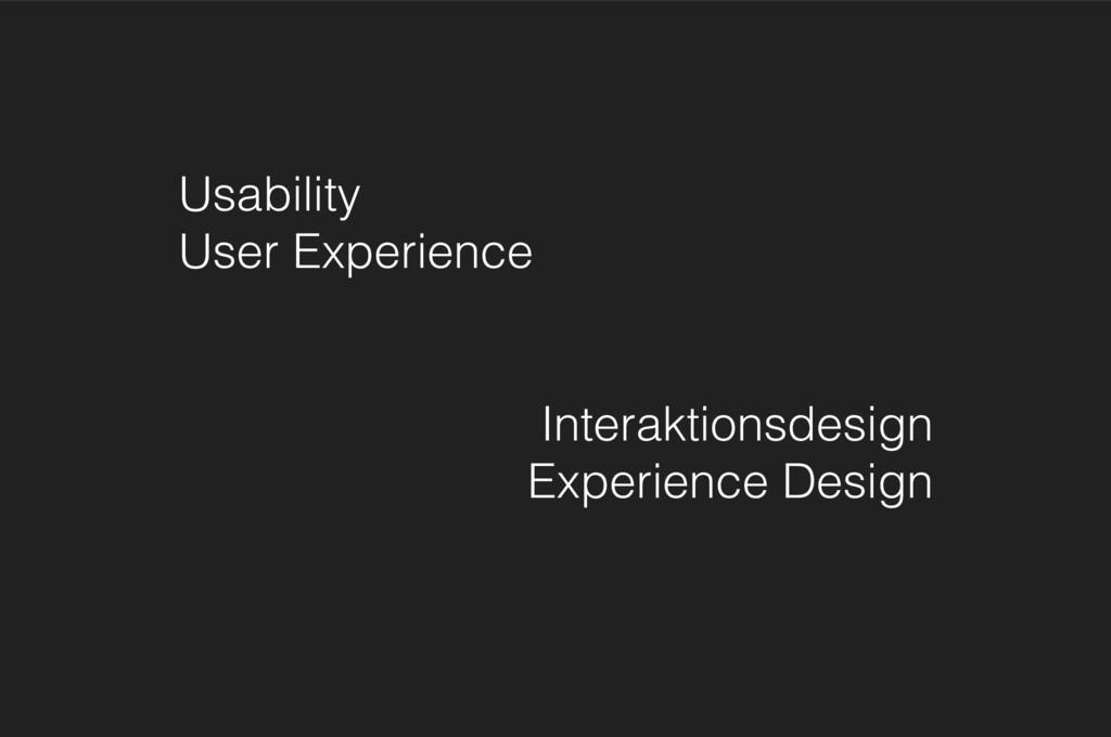 Usability User Experience Interaktionsdesign E...