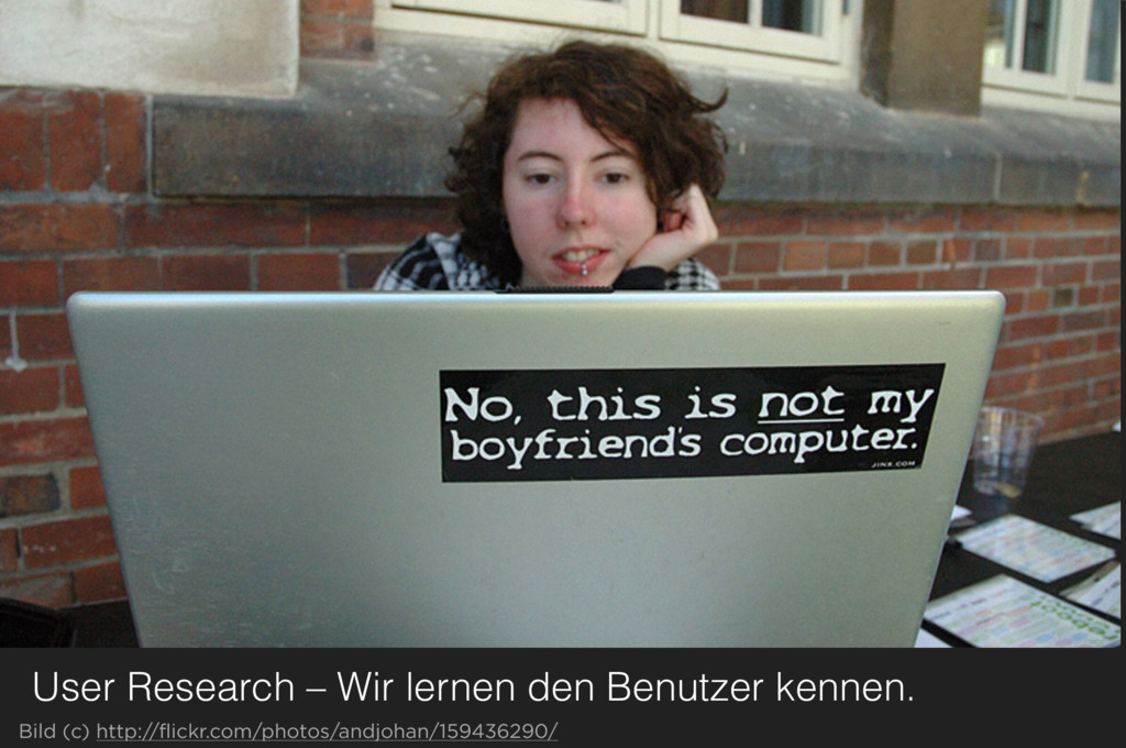 User Research – Wir lernen den Benutzer kennen....
