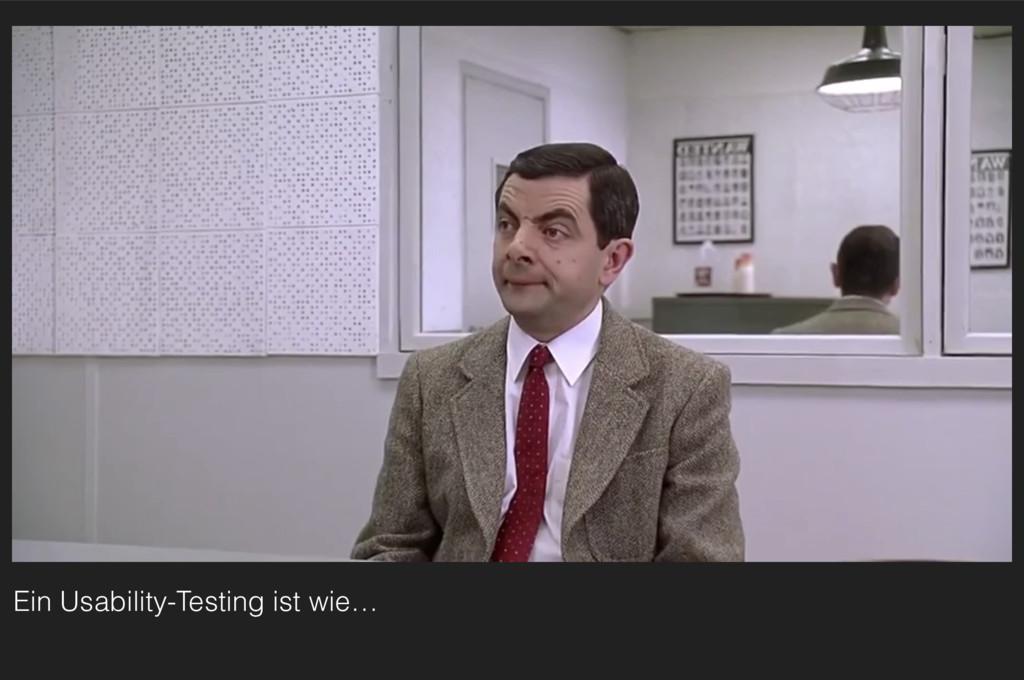 Ein Usability-Testing ist wie…