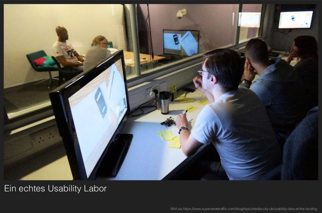 Ein echtes Usability Labor Bild via https://www...