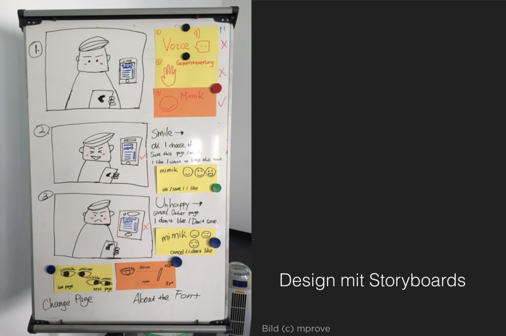 Design mit Storyboards Bild (c) mprove