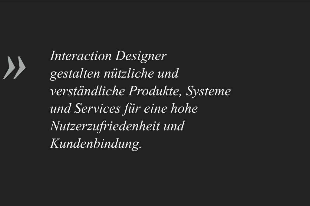 » Interaction Designer gestalten nützliche und ...