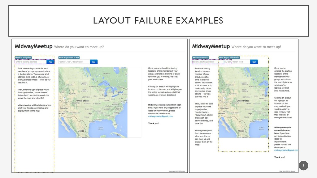 LAYOUT FAILURE EXAMPLES 3