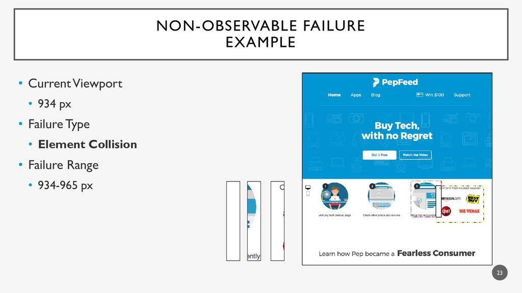 NON-OBSERVABLE FAILURE EXAMPLE • CurrentViewpor...