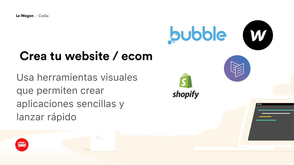 Crea tu website / ecom Usa herramientas visuale...